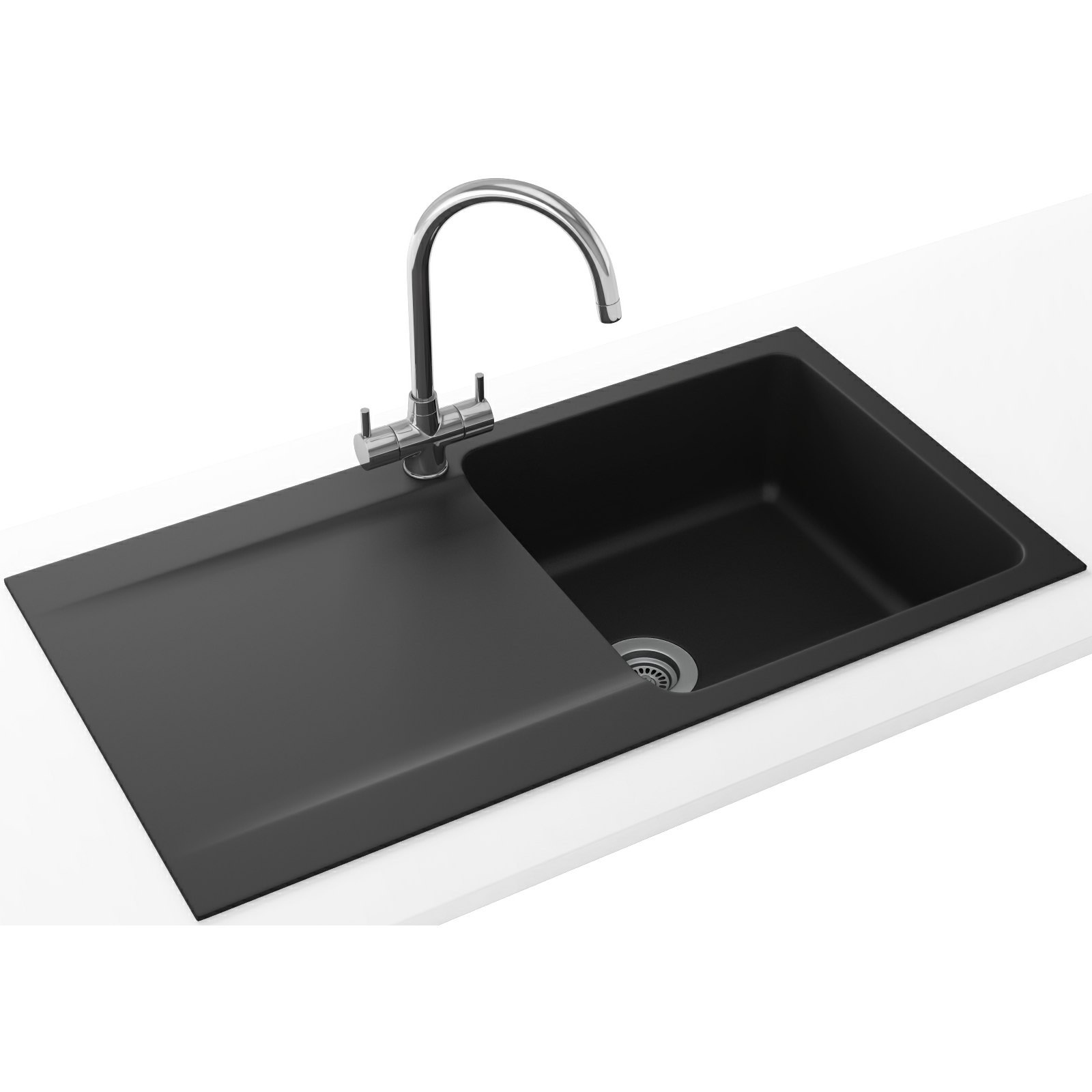 Franke Black Kitchen Sink: Franke Orion Propack OID 611-94 Tectonite Carbon Black