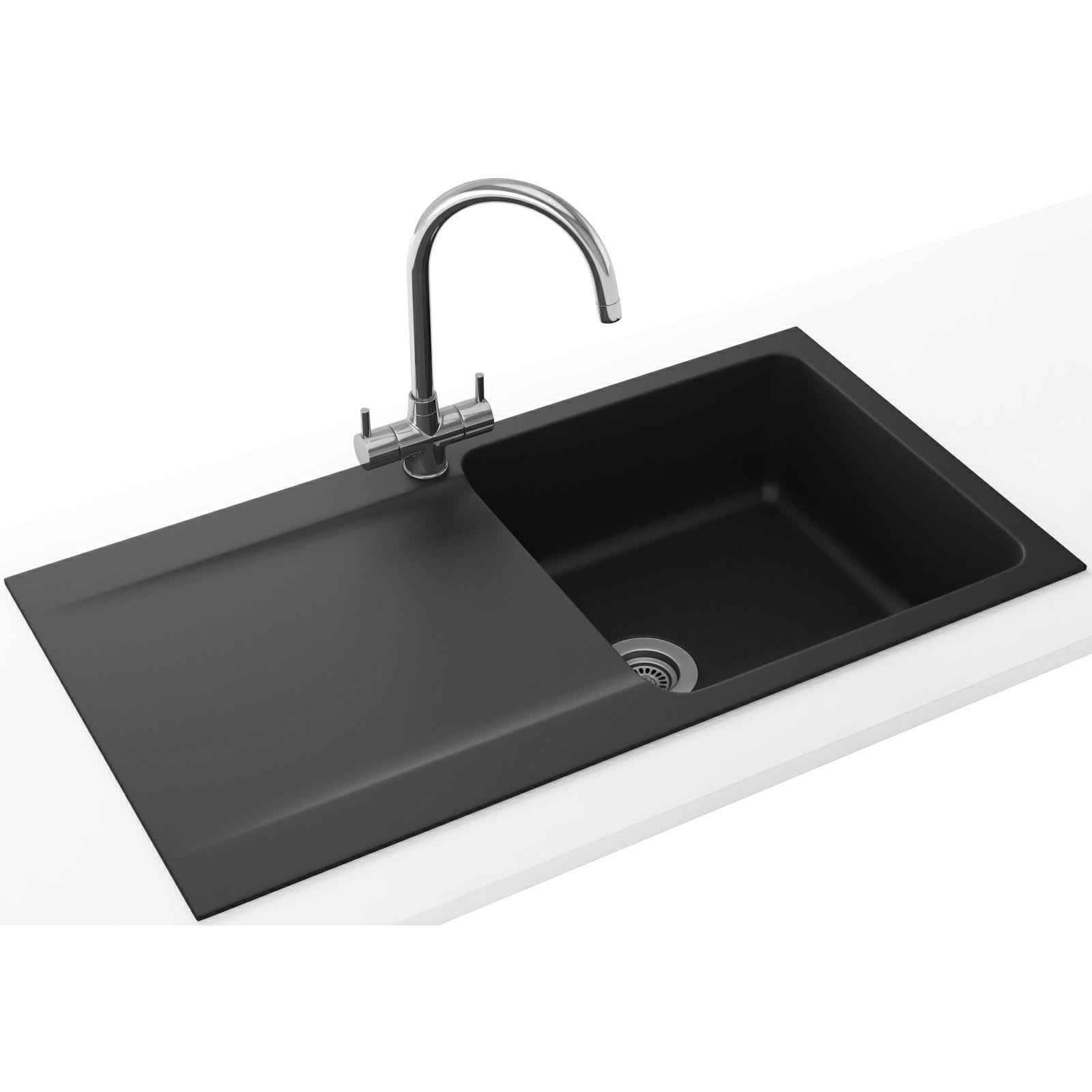 Franke Black Sink : Franke Orion Propack OID 611-94 Tectonite Carbon Black Kitchen Sink ...