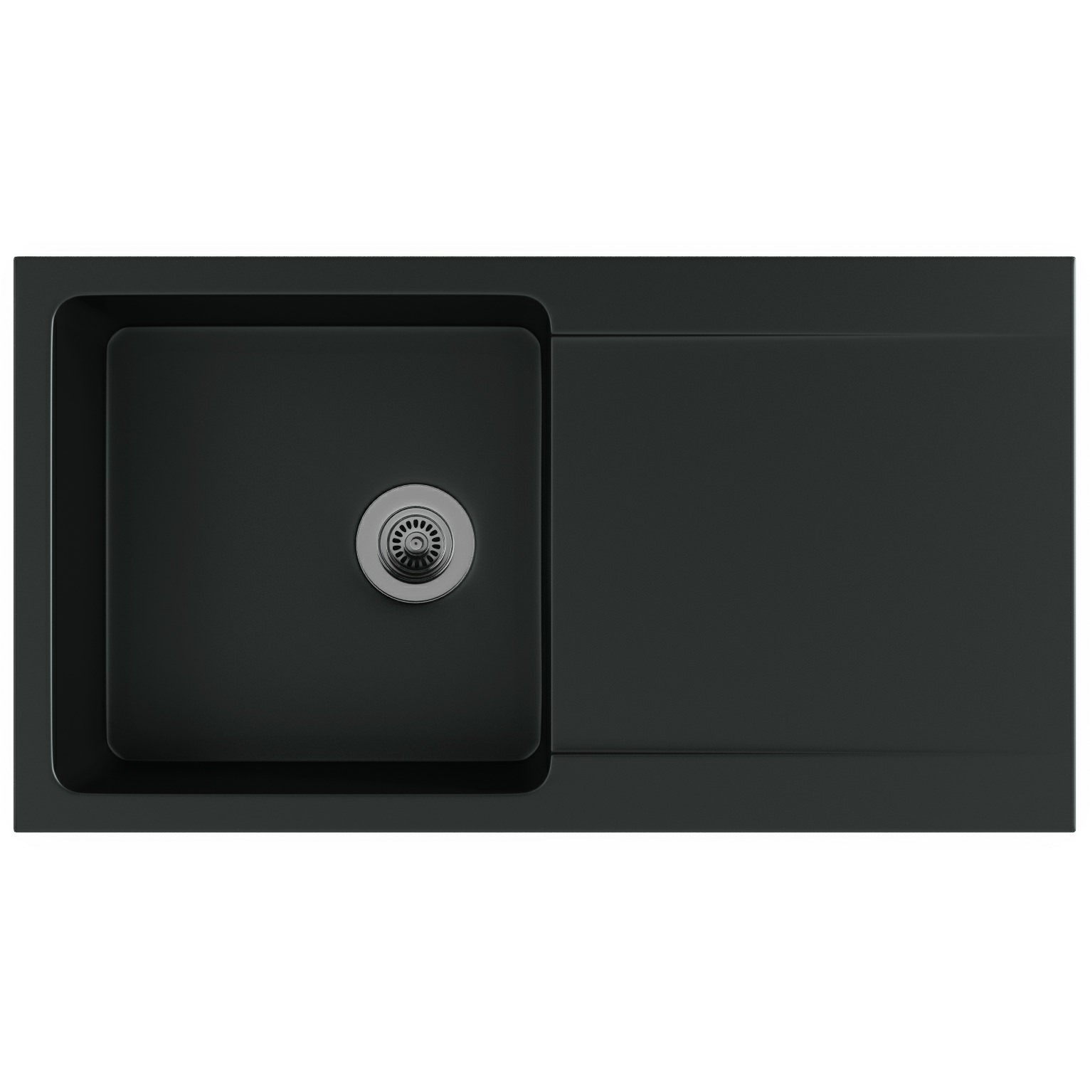 Franke Black Kitchen Sink: Franke Orion OID 611-94 Tectonite Carbon Black 1.0 Bowl