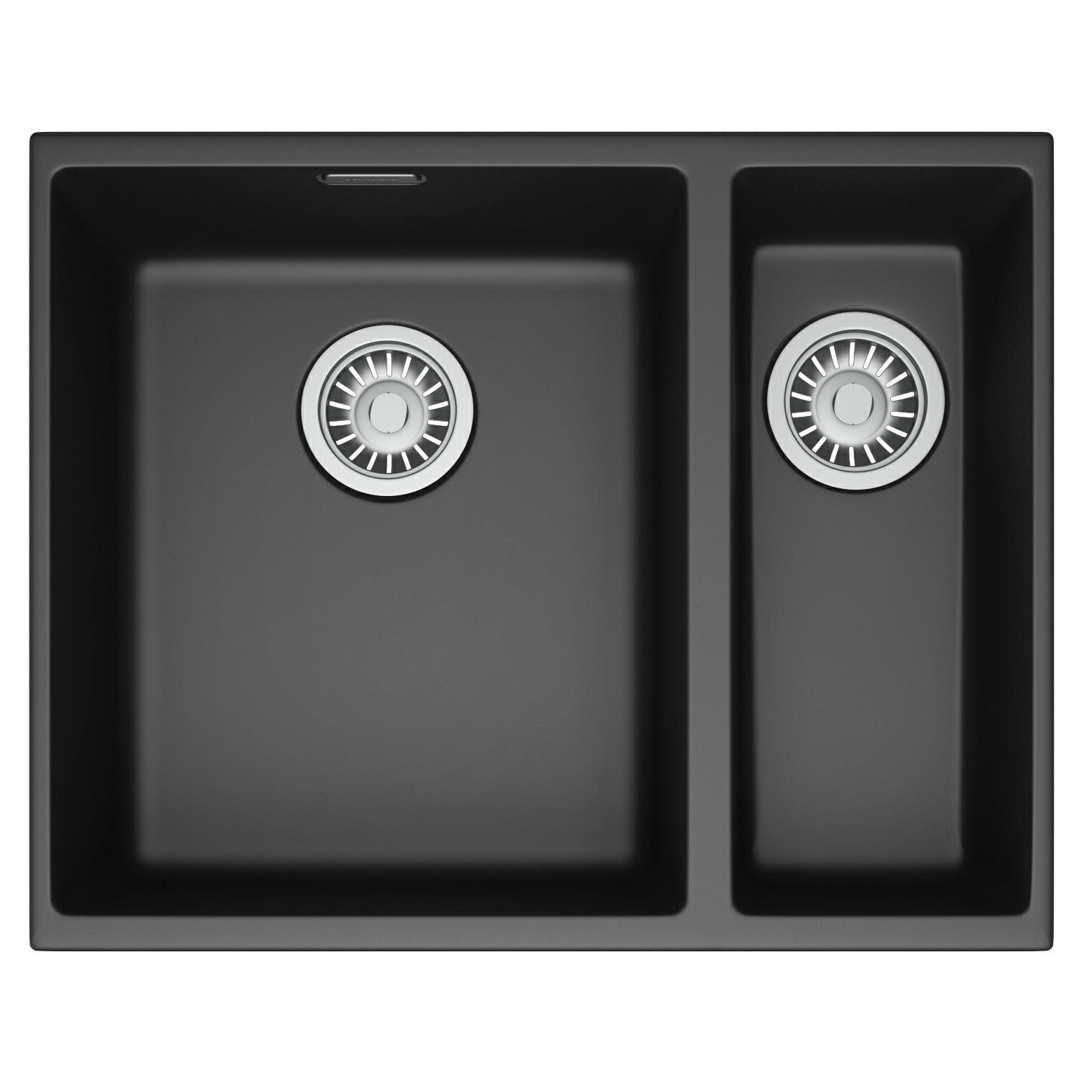 Franke Sirius Propack SID 160 Tectonite Carbon Black Kitchen Sink And ...
