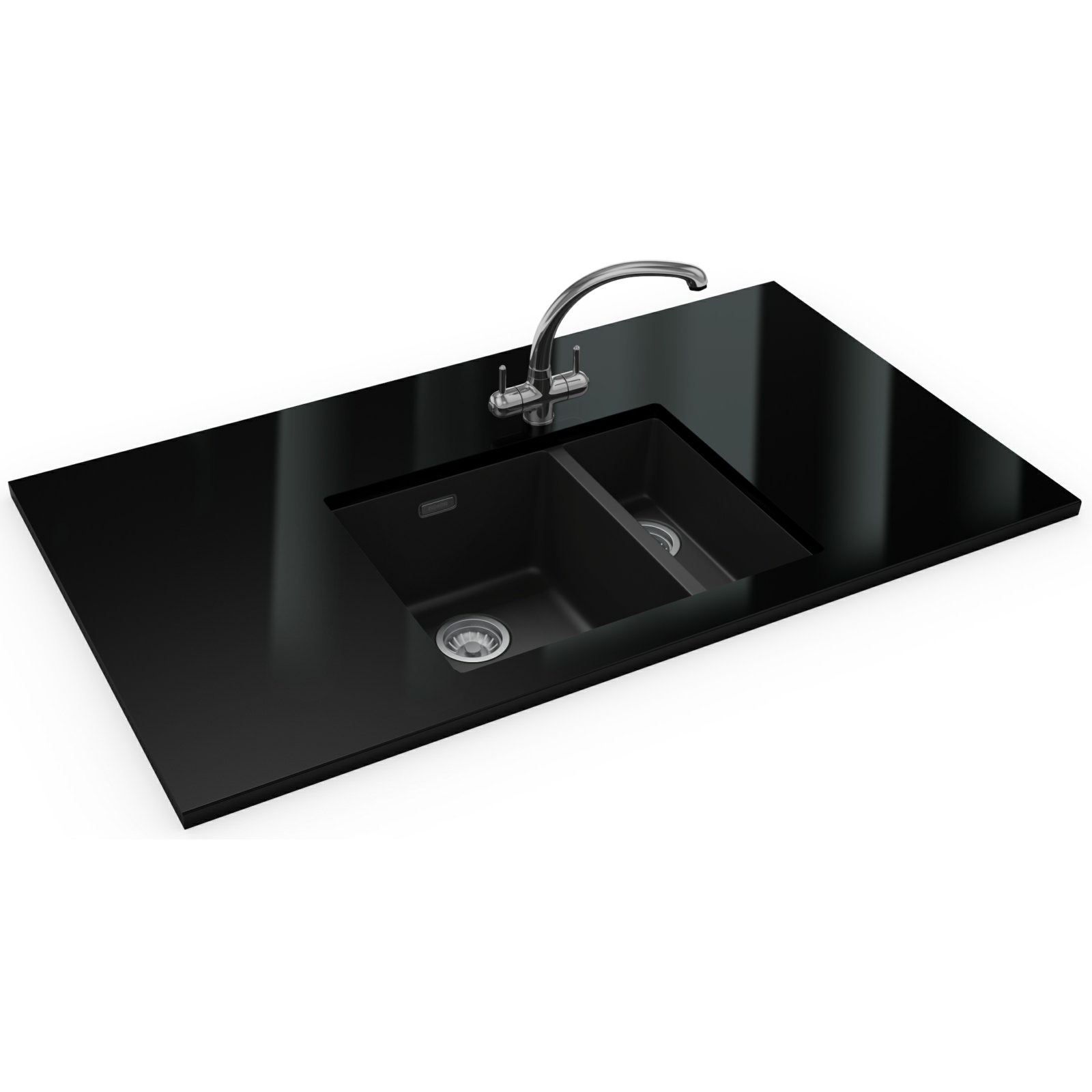 Franke Black Kitchen Sink: Franke Sirius Propack SID 160 Tectonite Carbon Black Sink