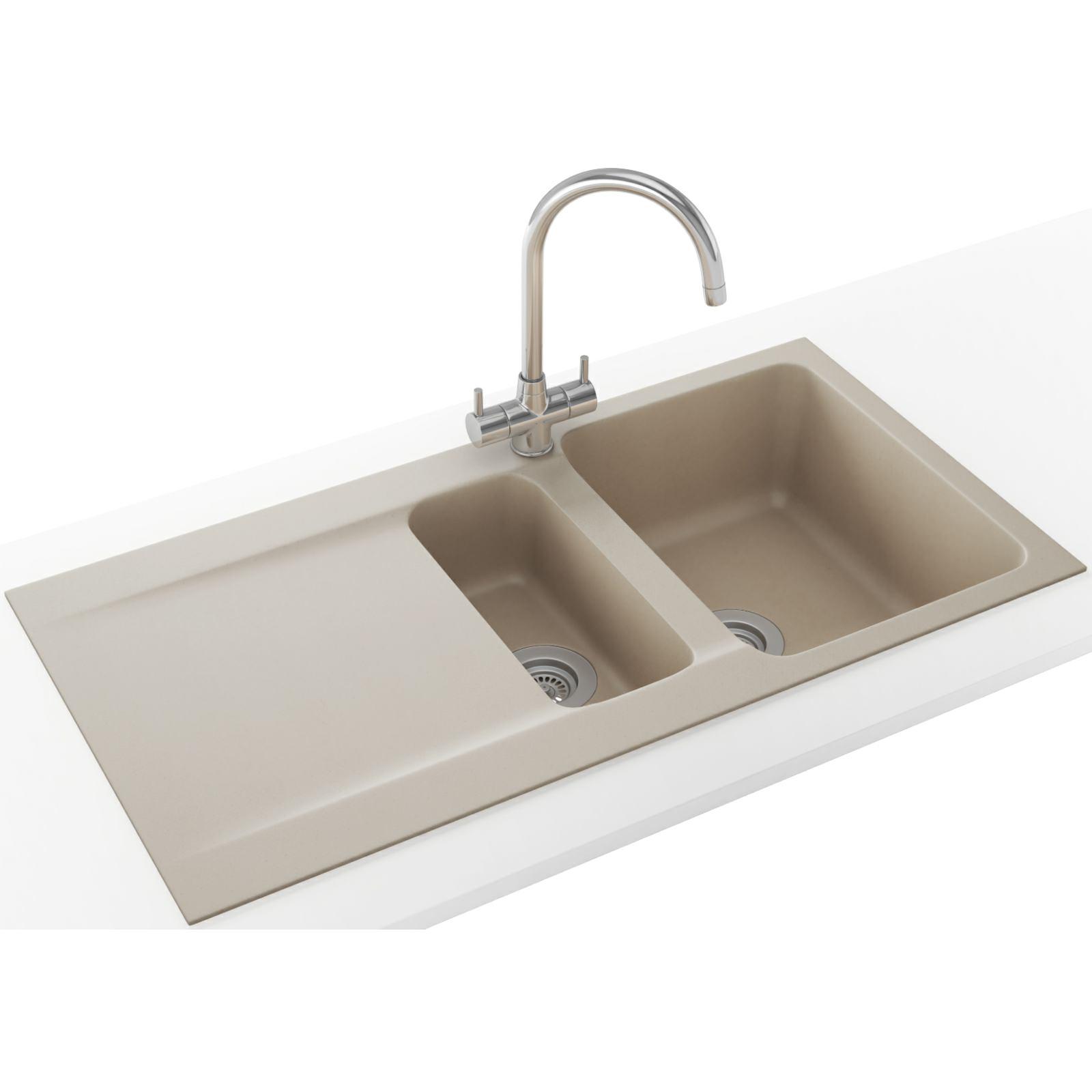 Franke Linen Finish Sinks : Franke Orion OID 651 Tectonite Coffee 1.5 Bowl Inset Sink 114.0316 ...