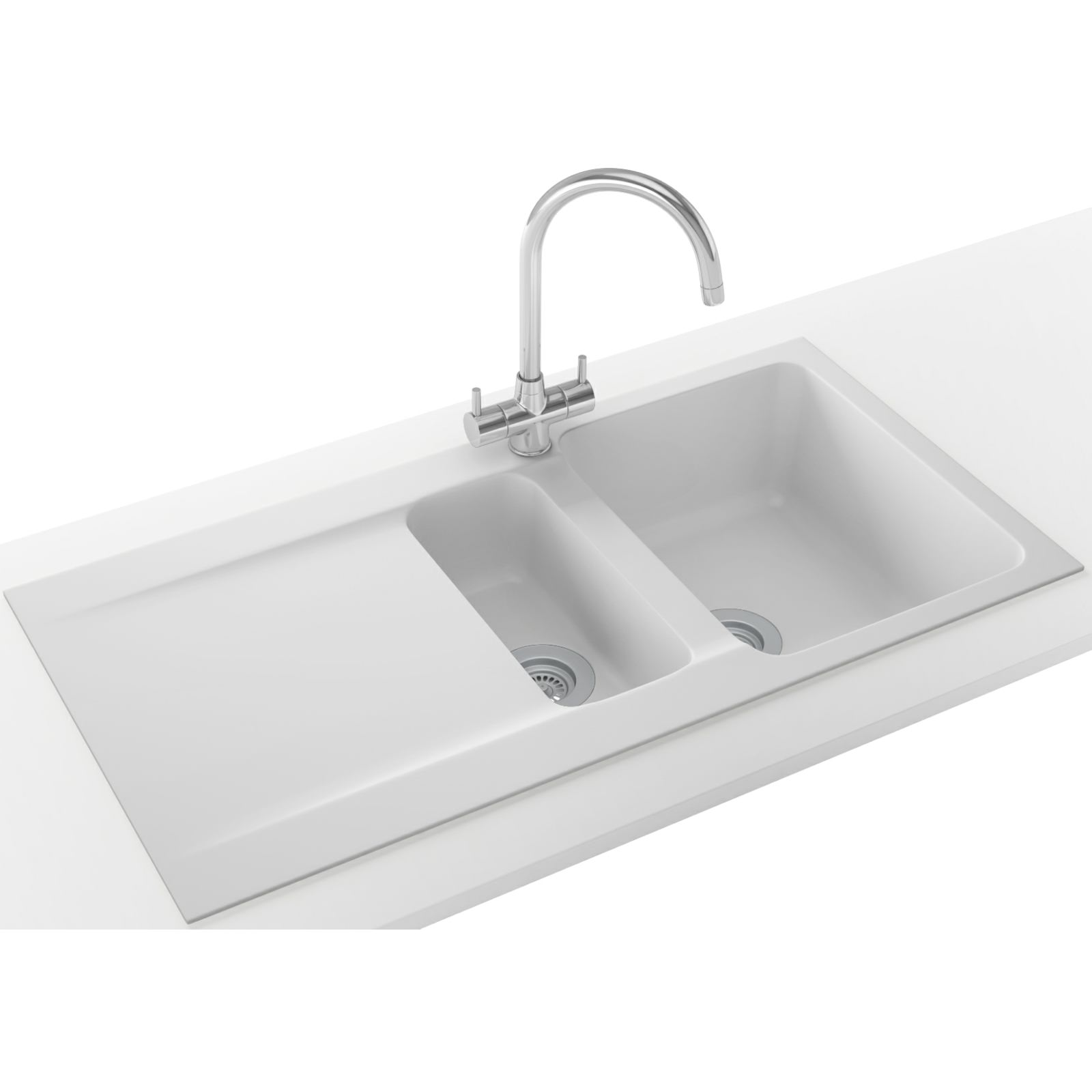 Franke Orion Propack OID 651 Tectonite Polar White Kitchen Sink And Tap ...