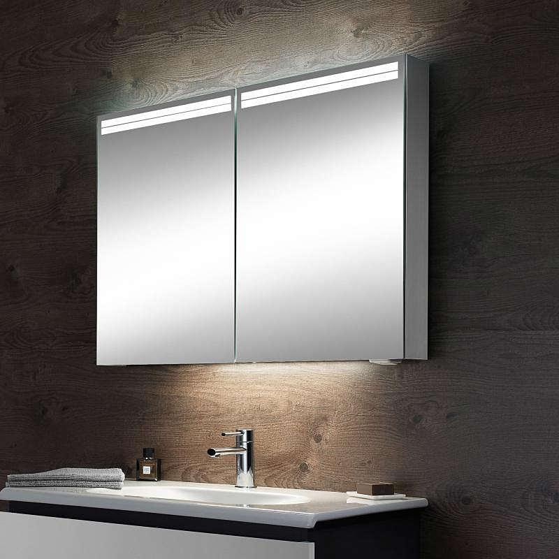 schneider arangaline 2 door mirror cabinet 800mm ara 80. Black Bedroom Furniture Sets. Home Design Ideas