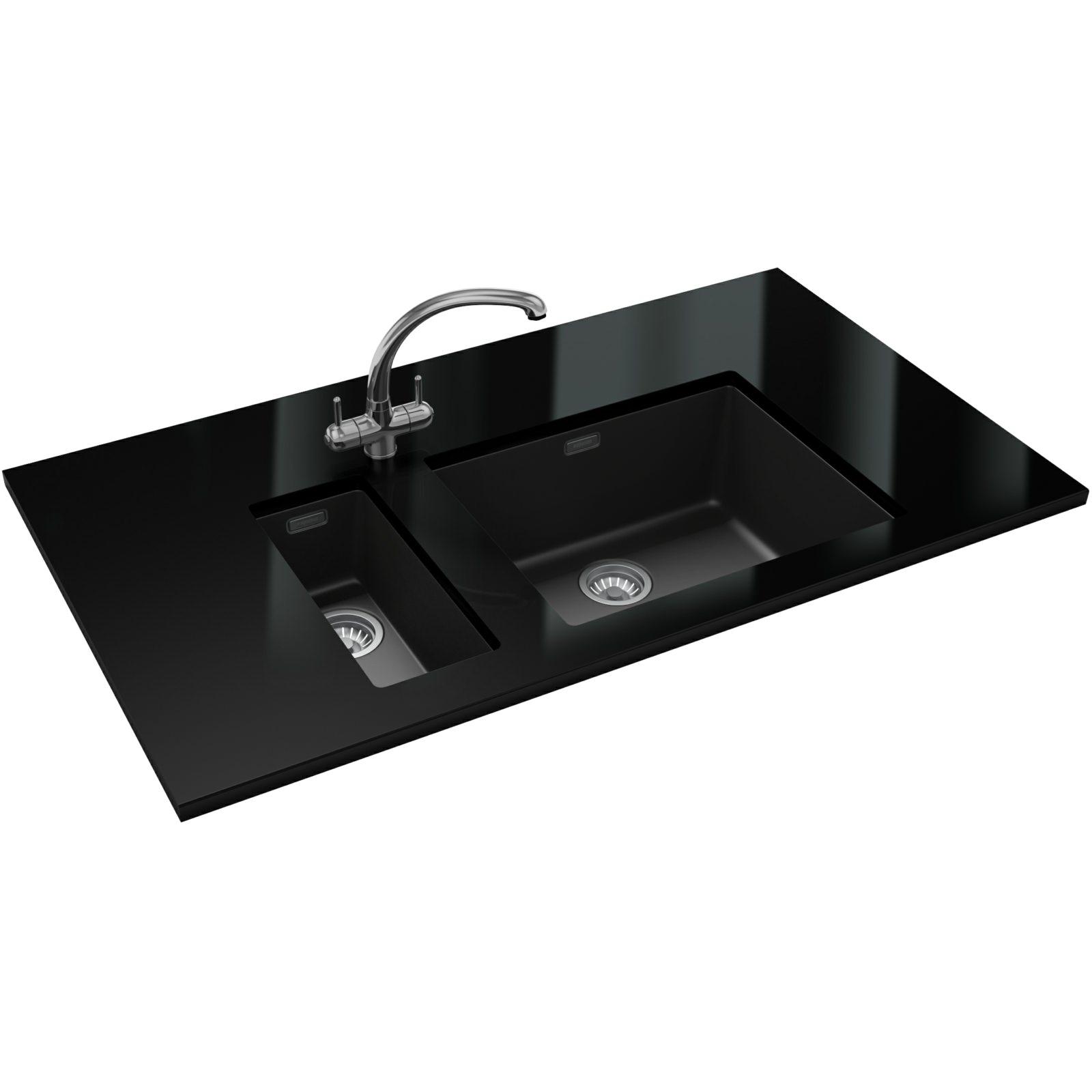 Franke Sirius Sink : Franke Sirius SID 110 50 Tectonite Carbon Black 1.0 Bowl Undermount ...
