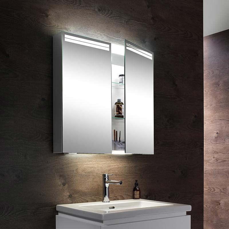 Schneider Arangaline 2 Door Mirror Cabinet 700mm
