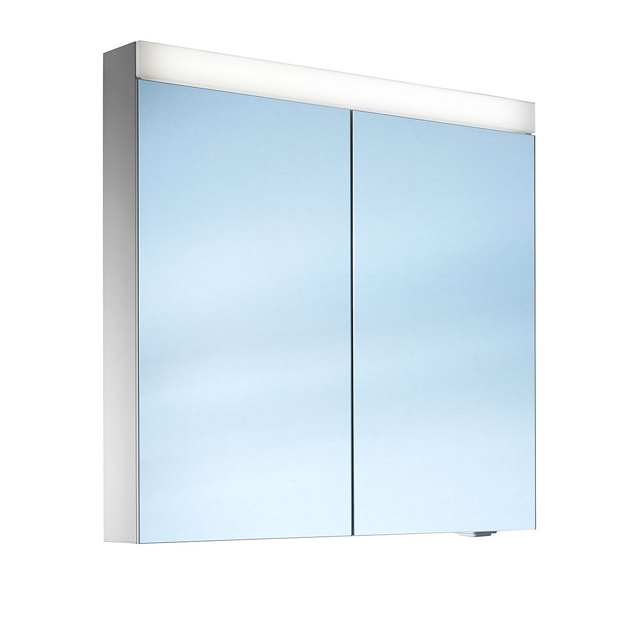Schneider pataline 2 door led mirror cabinet 600mm more for Bathroom cabinets led