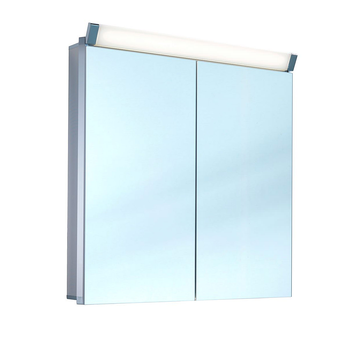 Schneider paliline 2 door mirror cabinet with led light 1200mm for Bathroom cabinets 1200mm wide