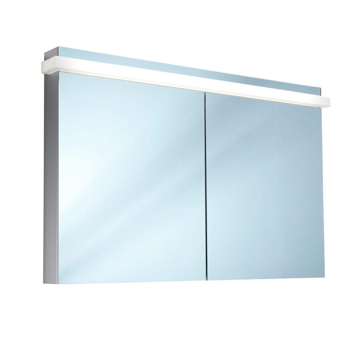 Schneider taikaline 2 door 1200mm mirror cabinet for Mirrored cabinet doors