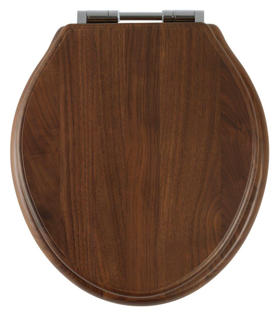 roper rhodes greenwich walnut solid wood toilet seat