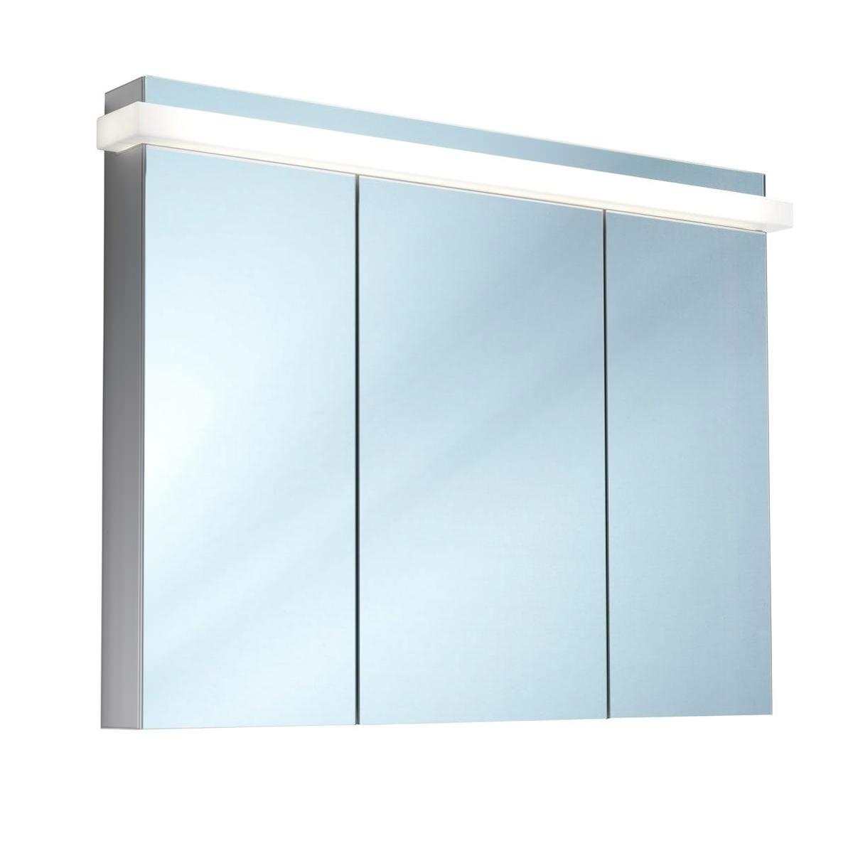 Schneider taikaline 3 door 1300mm mirror cabinet door for Mirrored cabinet doors