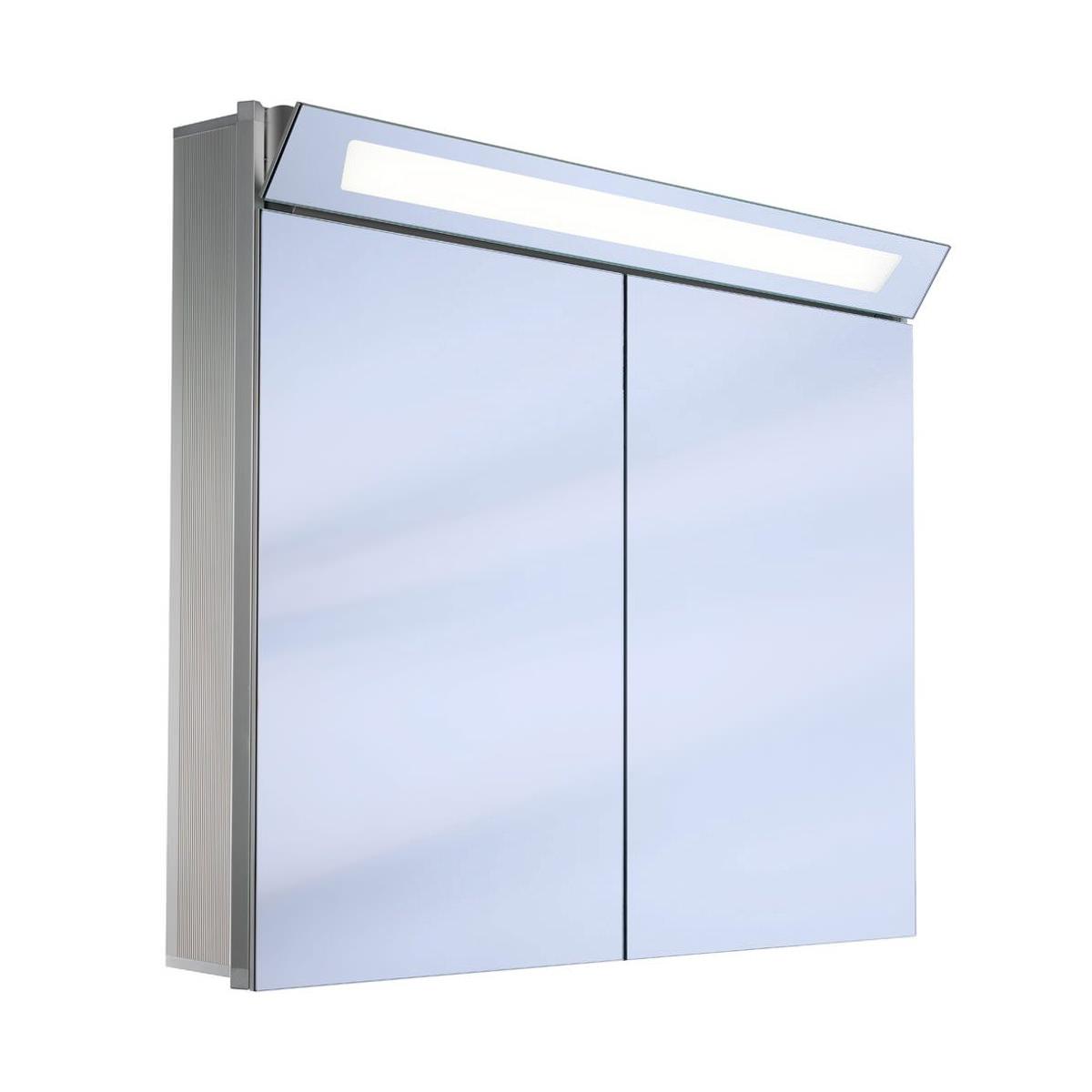 Schneider capeline 2 door illuminated mirror cabinet 1200mm for Bathroom cabinets 1200mm wide