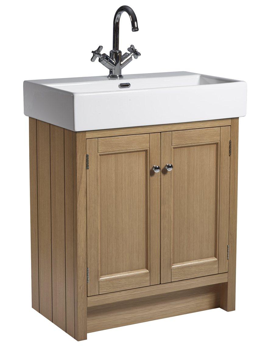 Roper Rhodes Hampton 700mm Natural Oak Vanity Unit With Basin