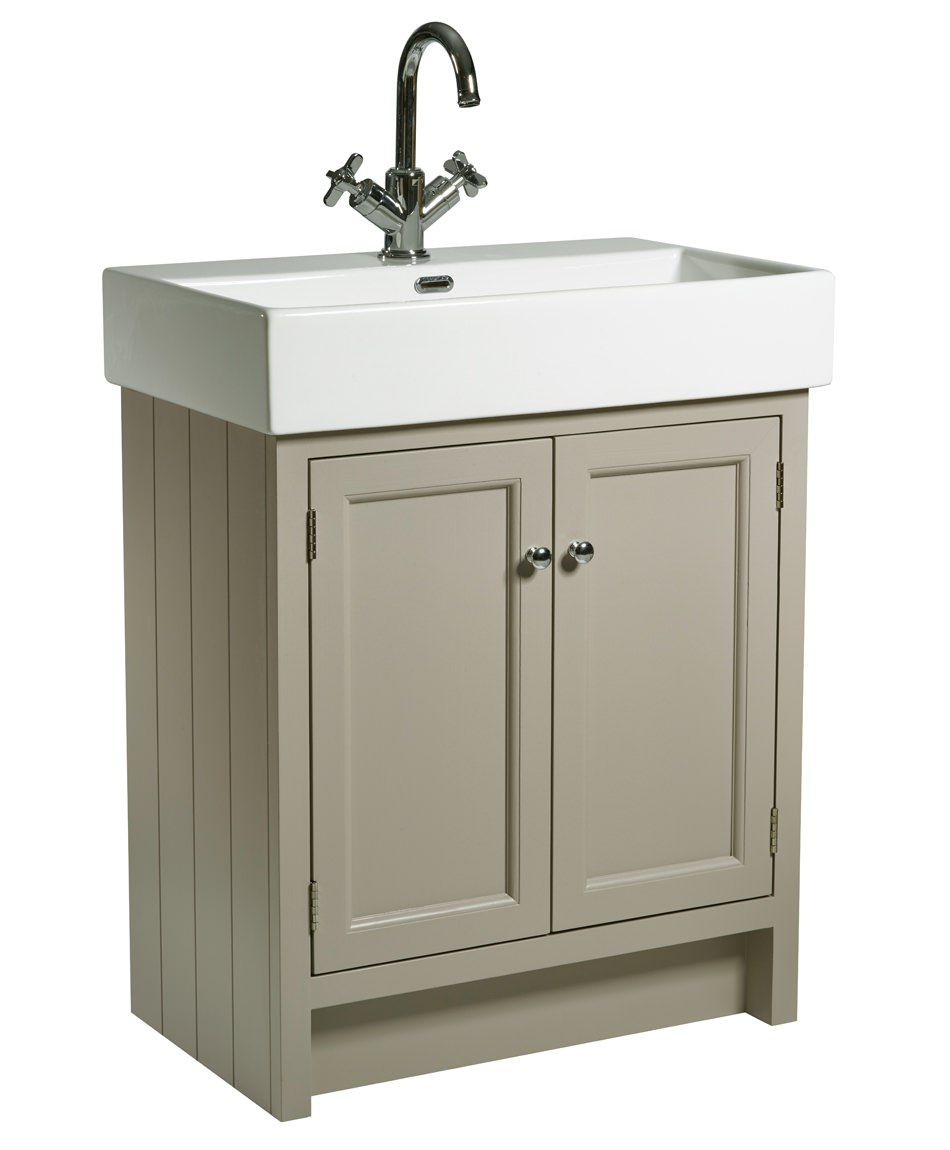 Roper rhodes hampton 700mm mocha vanity unit with basin for Bathroom cabinets 700mm