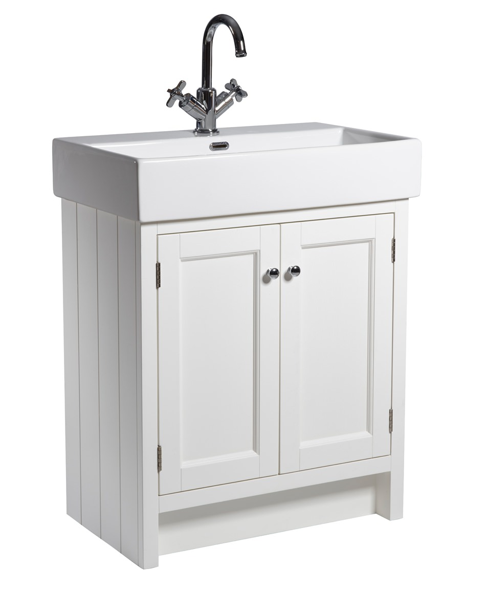 Roper rhodes hampton 700mm chalk white vanity unit with basin for Bathroom furniture 700mm