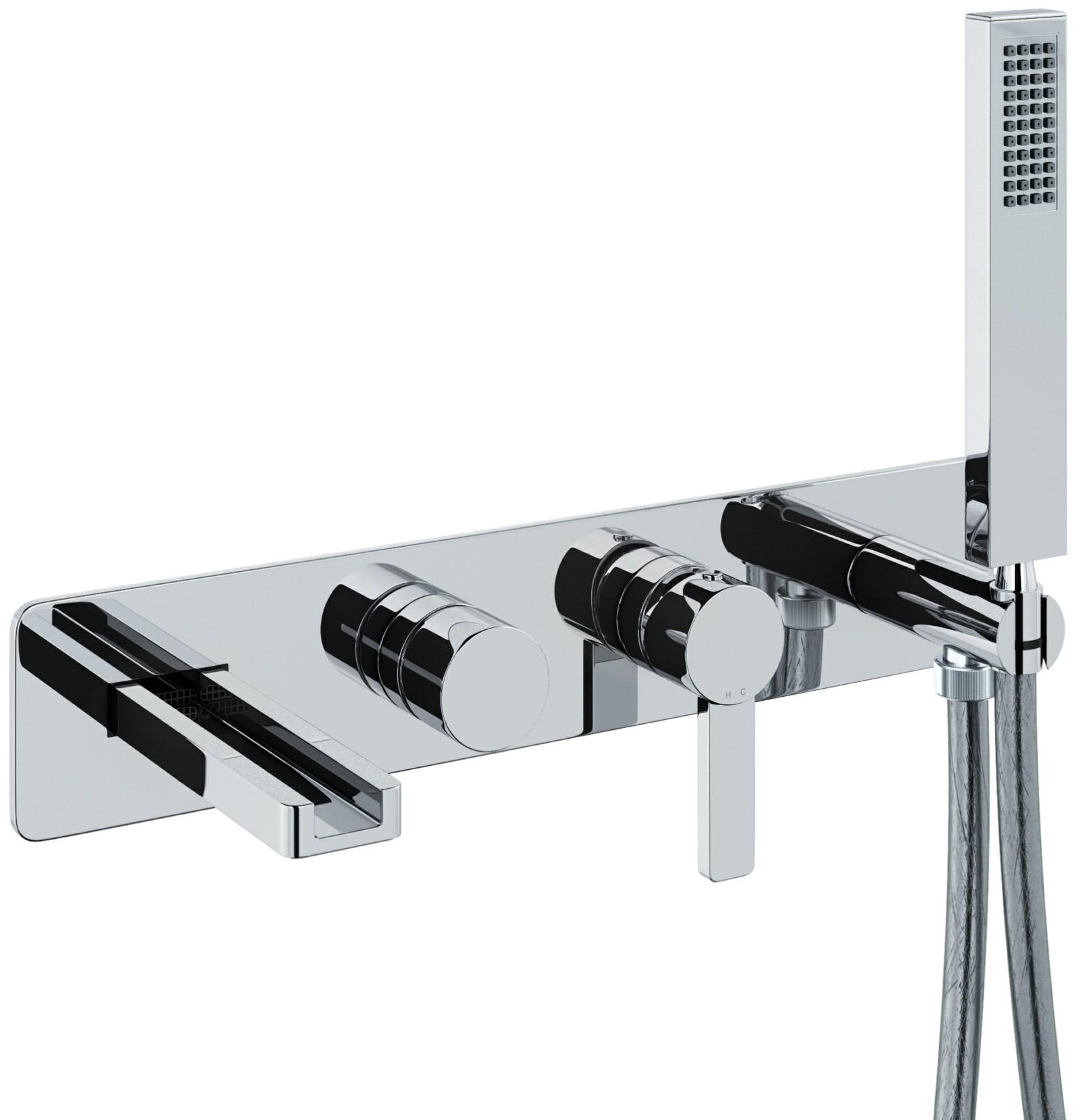 Abode Modo Wall Mounted Bath Shower Mixer Tap Ab4095