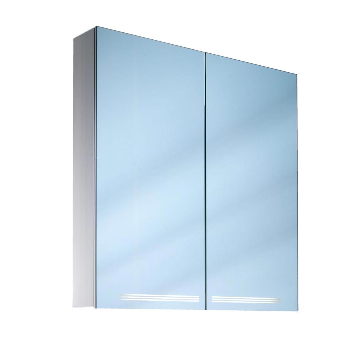 Schneider graceline 2 door illuminated mirror cabinet 1000mm for 1000mm door