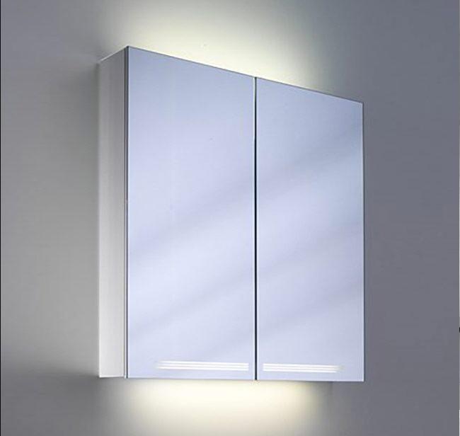 Schneider graceline 2 door illuminated mirror cabinet 1000mm for Bathroom mirror cabinets 900mm and 1000mm