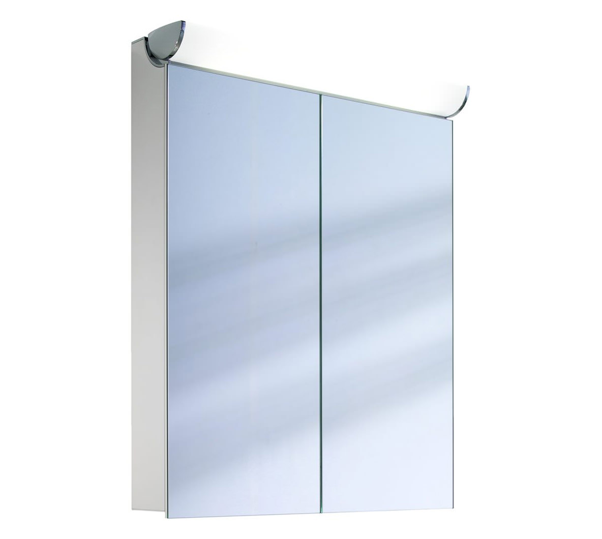 Schneider faceline 2 door illuminated mirror cabinet 700mm for Bathroom cabinets 700mm