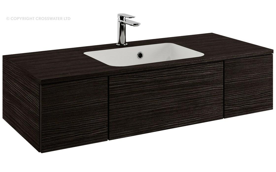 Bauhaus pier 1000mm anthracite double drawer console unit for 1000mm kitchen drawer unit