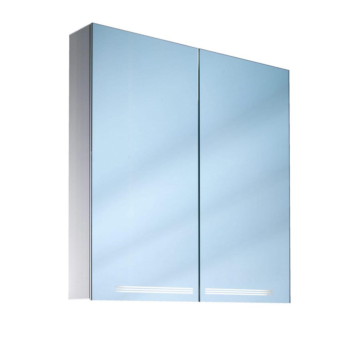 Schneider Graceline 2 Door 700mm Mirror Cabinet With Led Light
