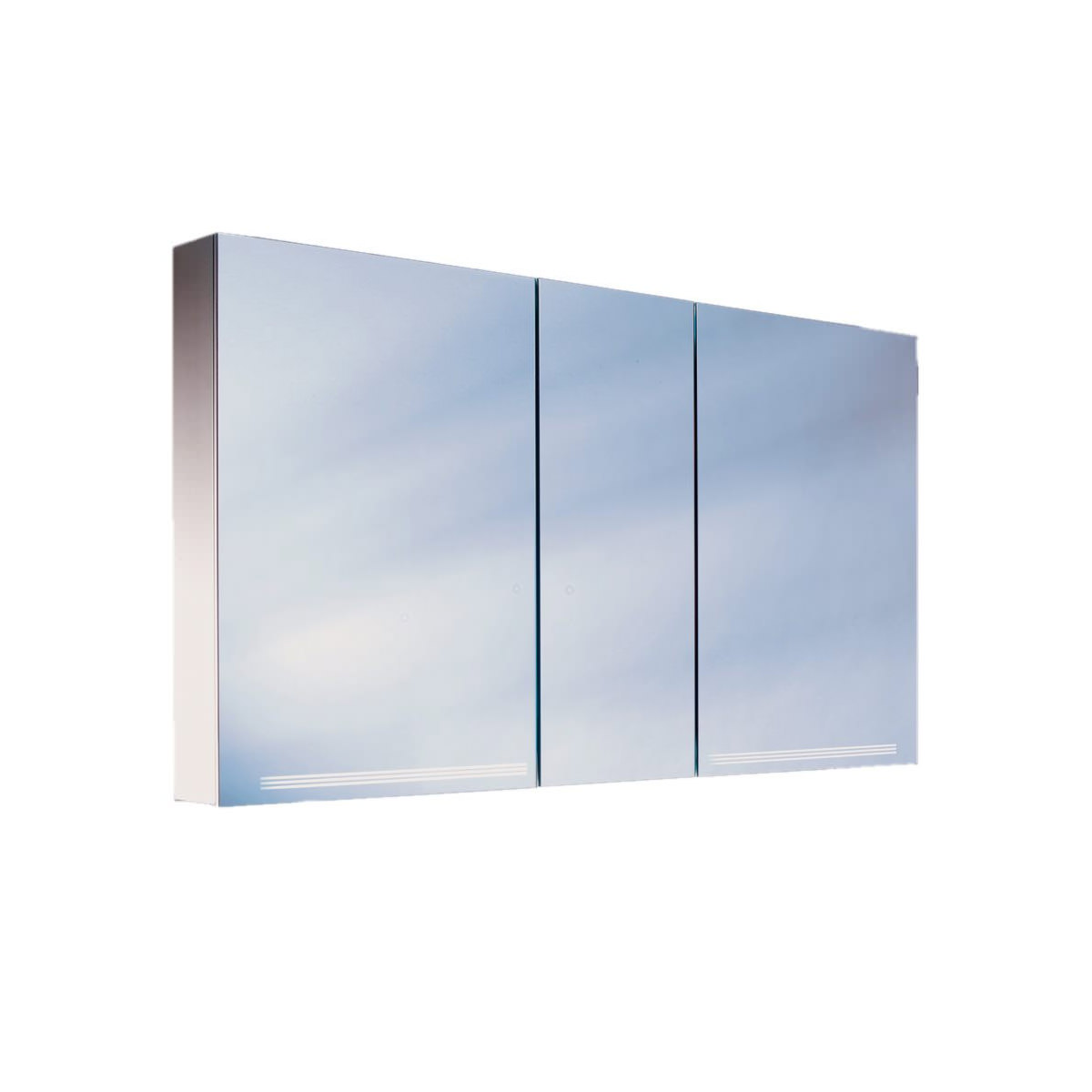 Schneider Graceline 3 Door Mirror Cabinet With Led Light Grl 1303