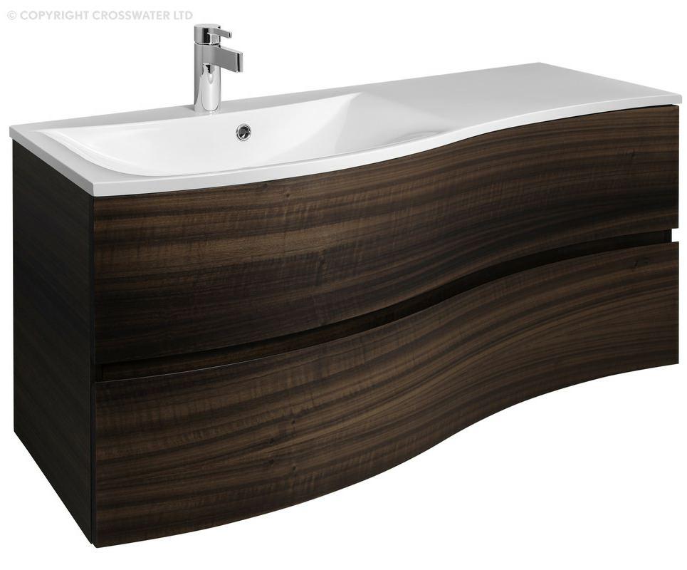 Bauhaus Svelte 1200mm Eucalyptus Wall Hung Vanity Unit And