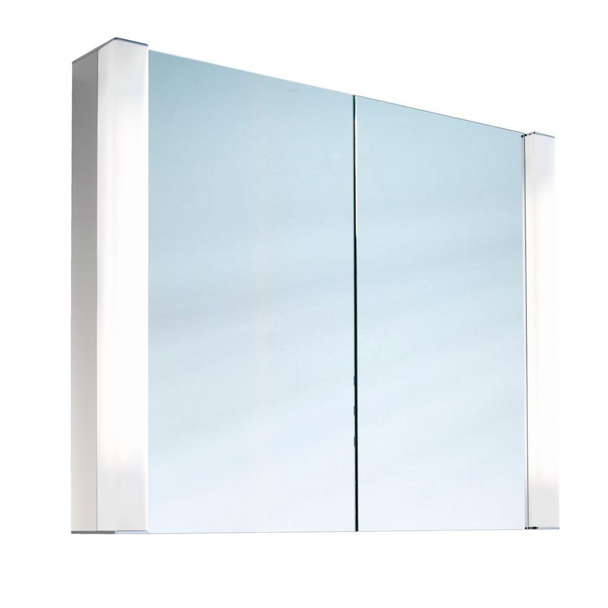 Schneider pepline 2 door mirror cabinet 800mm for Bathroom cabinets 800mm high