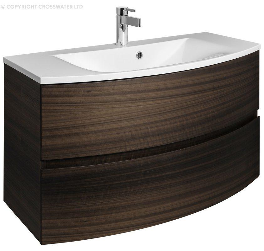 Bauhaus Svelte 1000mm Eucalyptus Wall Hung Vanity Unit And ...