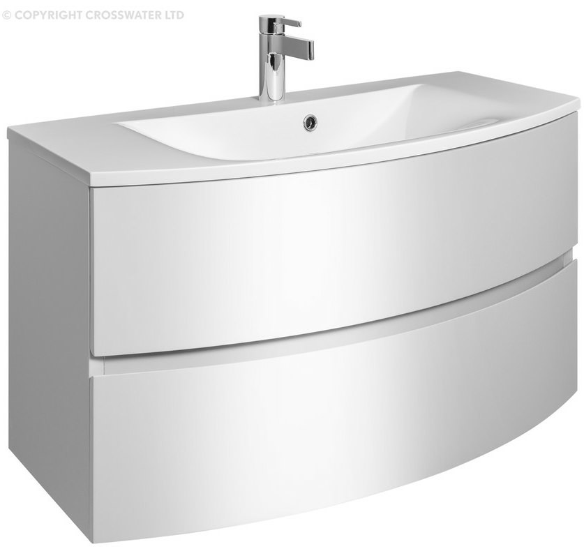 Bauhaus Svelte 1000mm Wall Hung Vanity Unit And Basin