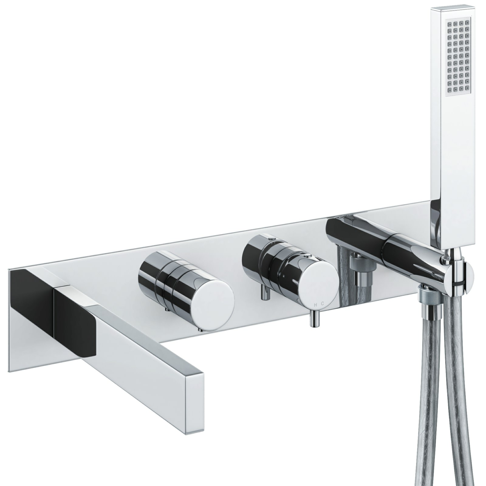 abode cyclo chrome wall mounted bath shower mixer tap ab4176