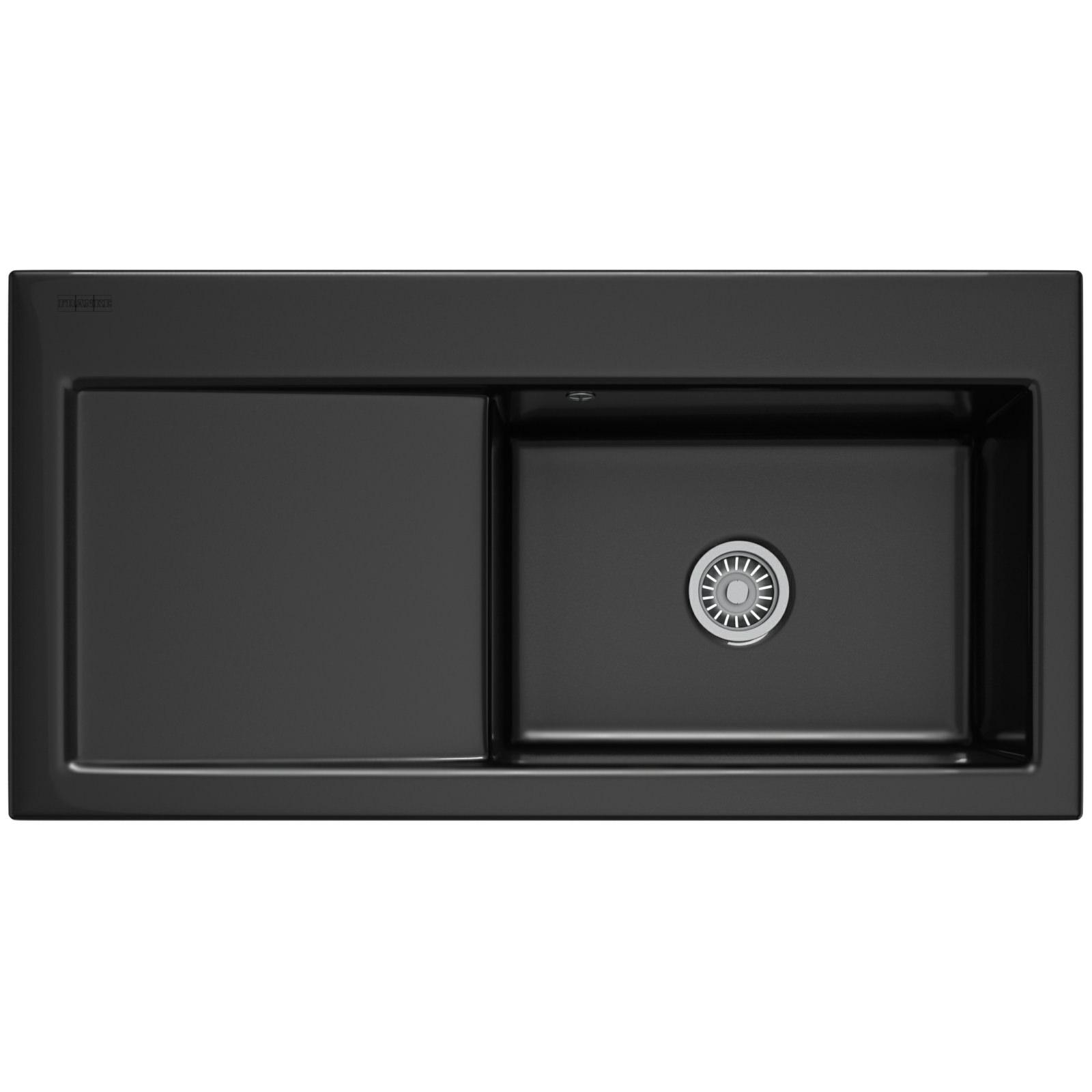 ... sink franke mythos mtk 611 ceramic black 1 0 bowl kitchen inset sink