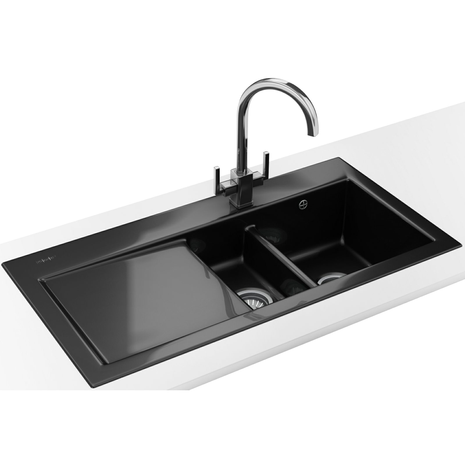 Franke Mythos Designer Pack MTK 651 Ceramic Black Sink And Tap 124 ...