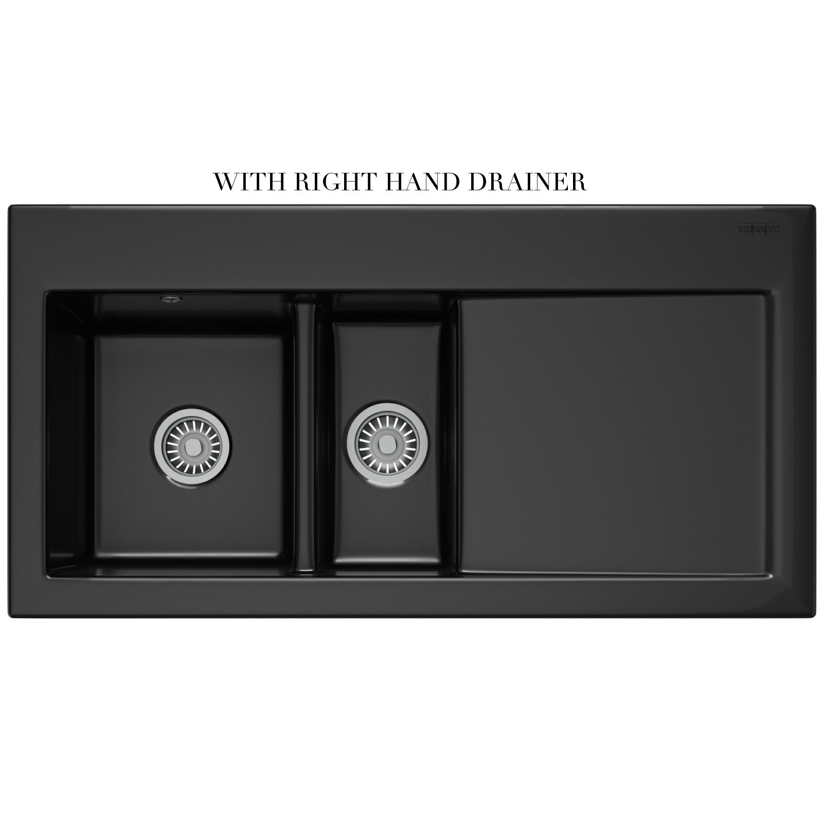 Franke Black Composite Sink : ... of Franke Mythos MTK 651 Ceramic Black 1.5 Bowl Kitchen Inset Sink