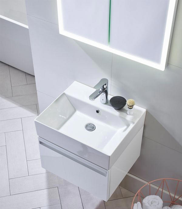 Tavistock Forum 500mm Wall Hung Vanity Unit And Basin Fr50ww Fr50c