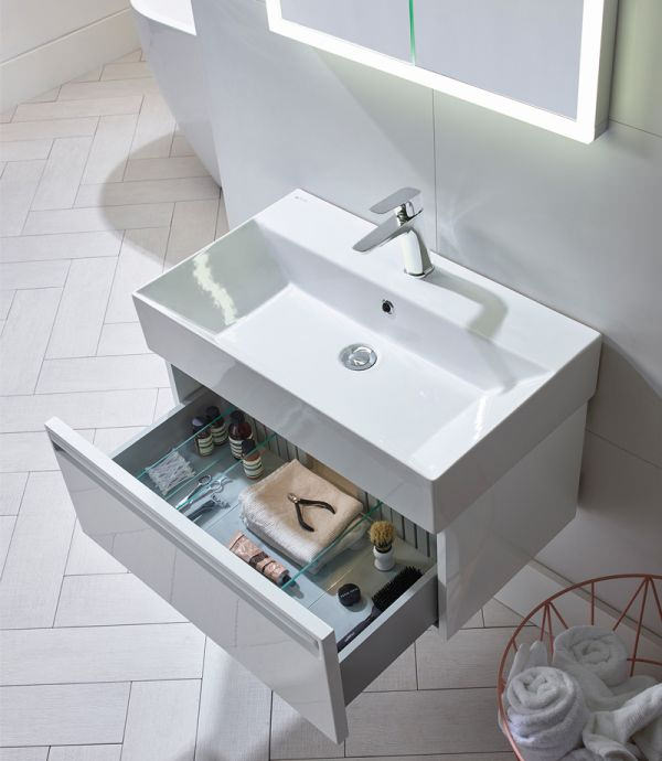 Tavistock Forum 500mm Wall Hung Vanity Unit And Basin