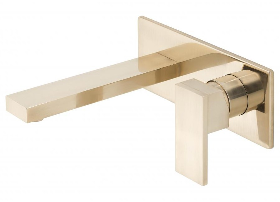 Vado notion brushed gold wall mounted 2 hole basin mixer tap not 109s a brg