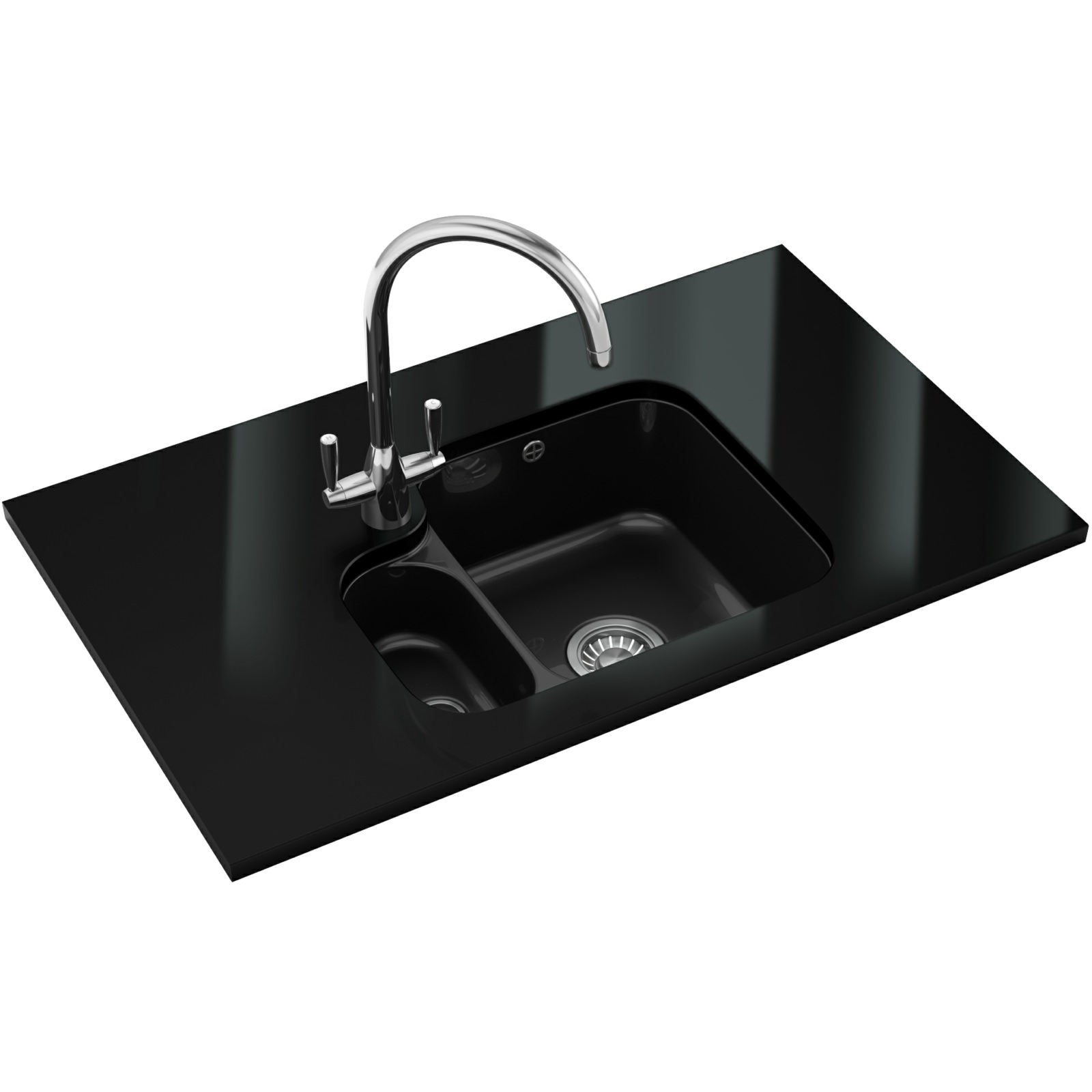 Franke Black Kitchen Sink: Franke V And B Designer Pack VBK 160 Ceramic Black Sink