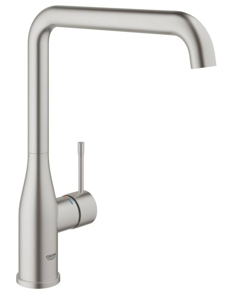 grohe essence plus kitchen sink mixer tap supersteel 30269dc0. Black Bedroom Furniture Sets. Home Design Ideas