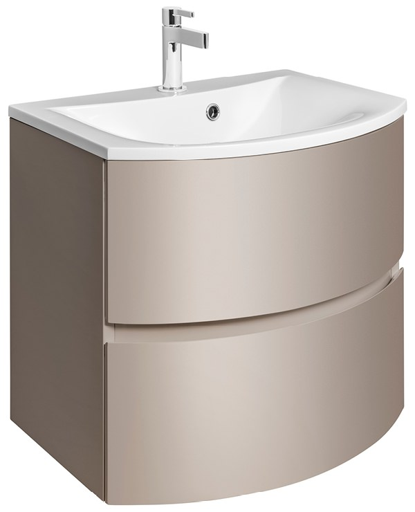 ... Svelte 600mm Matt Coffee Wall Hung Vanity Unit And Basin SE6000DCM