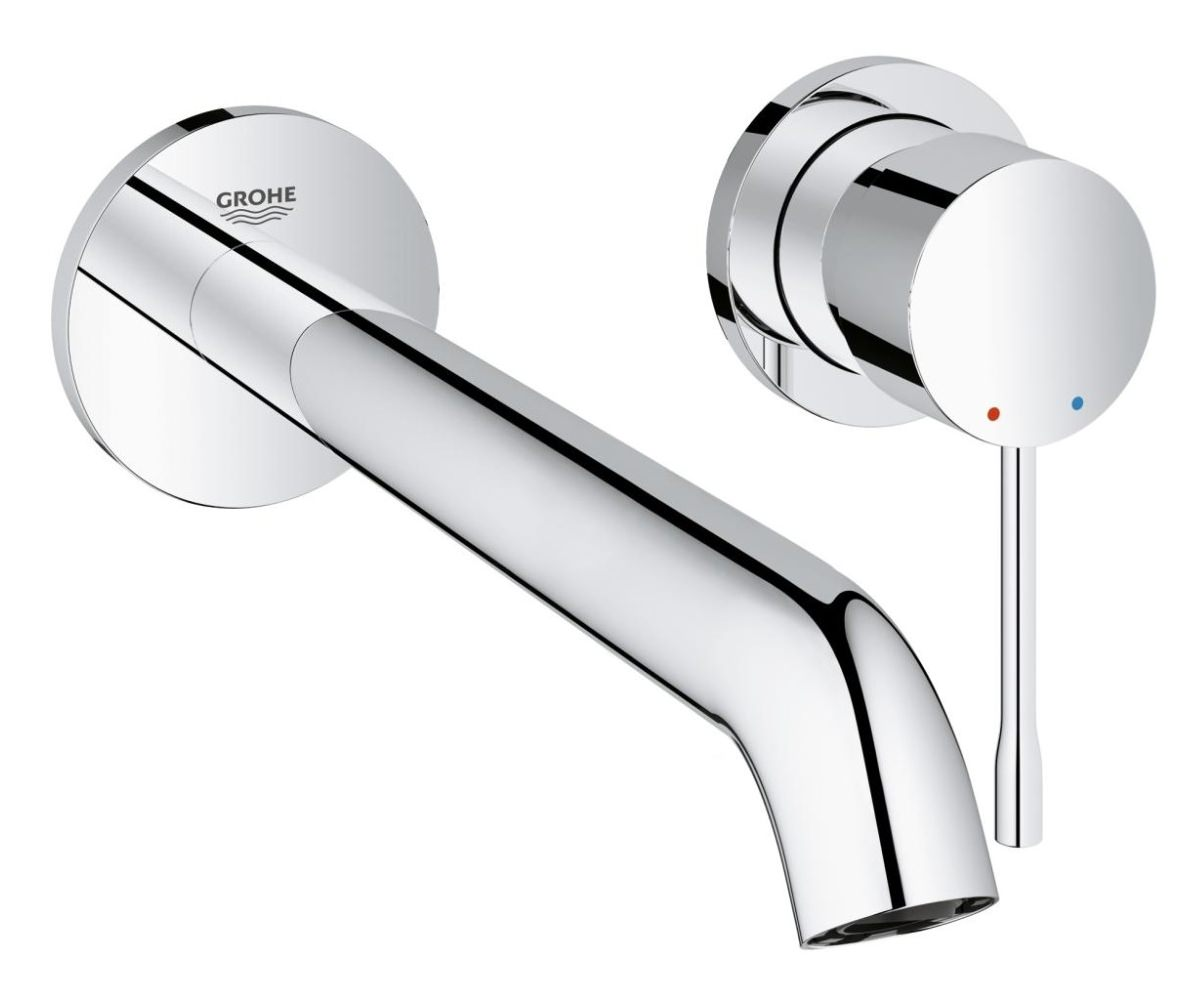 grohe essence new l size 2 hole basin mixer tap 19967001. Black Bedroom Furniture Sets. Home Design Ideas