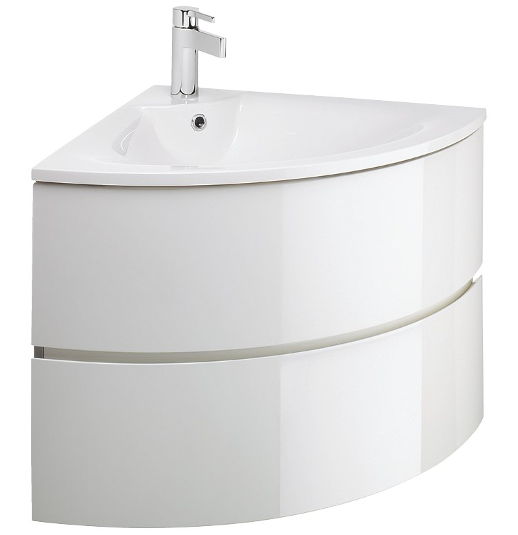 vanity units bauhaus svelte white gloss corner vanity unit and basin