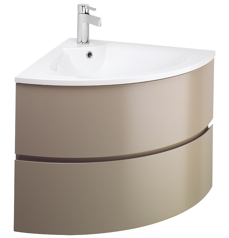 Corner Basin And Vanity Unit : ... vanity units bauhaus svelte matt coffee corner vanity unit and basin