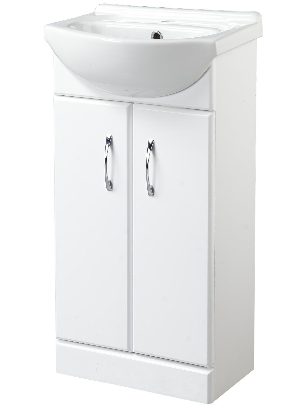 Croydex Kinsford 455mm Double Door Basin Vanity Unit