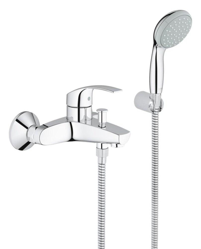 Grohe Eurosmart Half Inch Single Lever Bath Shower Mixer Set 33302002