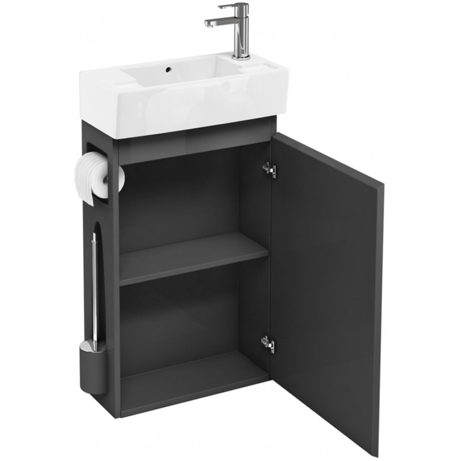 All In One Bathroom Britton All In One Floor Standing White Unit With Right Hand Basin