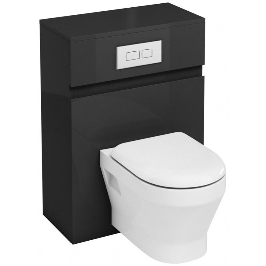 britton aqua cabinets d300 white 600mm wall hung wc unit. Black Bedroom Furniture Sets. Home Design Ideas