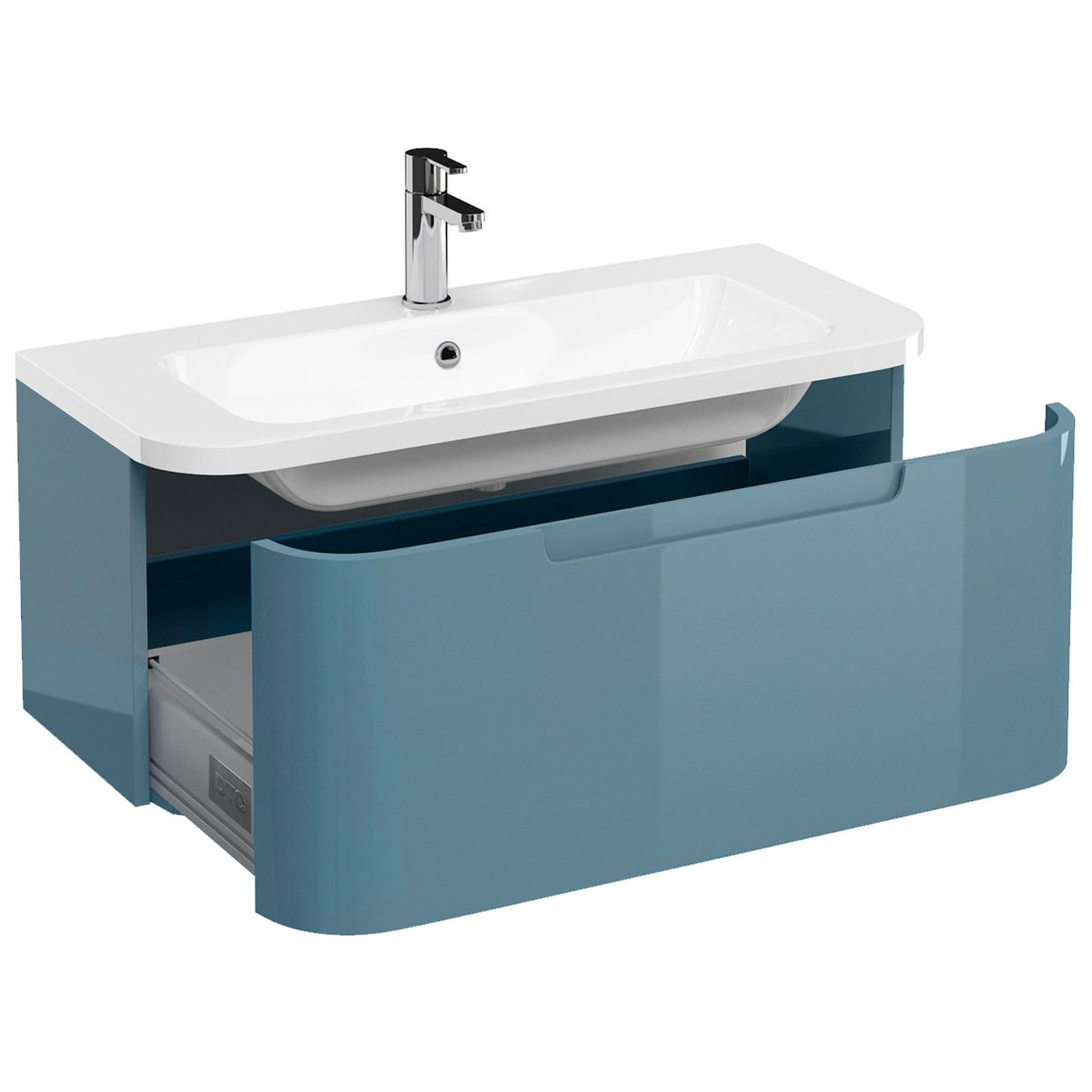 ... Additional image of Britton Aqua Cabinets Compact 900mm 1 Drawer Wall  Hung Basin Vanity Unit ...