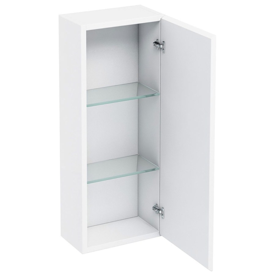 Britton Aqua Cabinets White 300mm Single Door Wall Mounted