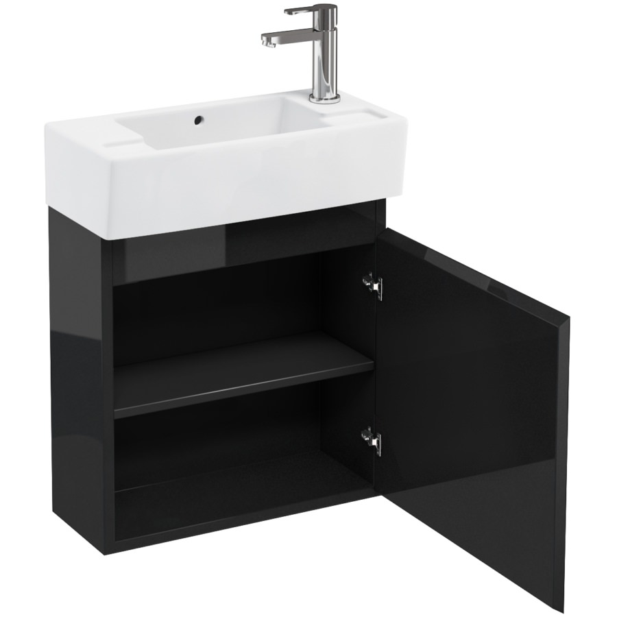 Wall Hung Cloakroom Basin Unit : ... Aqua Cabinets Compact 250 Wall Hung Unit And RH Cloakroom Basin R10W